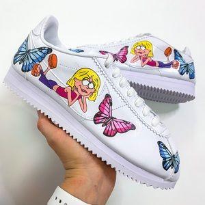 Nike Cortez Custom Butterfly Lizzy Sneakers